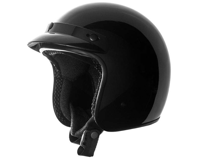 Speed and Strength 884992 SS610 3/4 Helmet Tri-Weave Shell Gloss Black 2XL