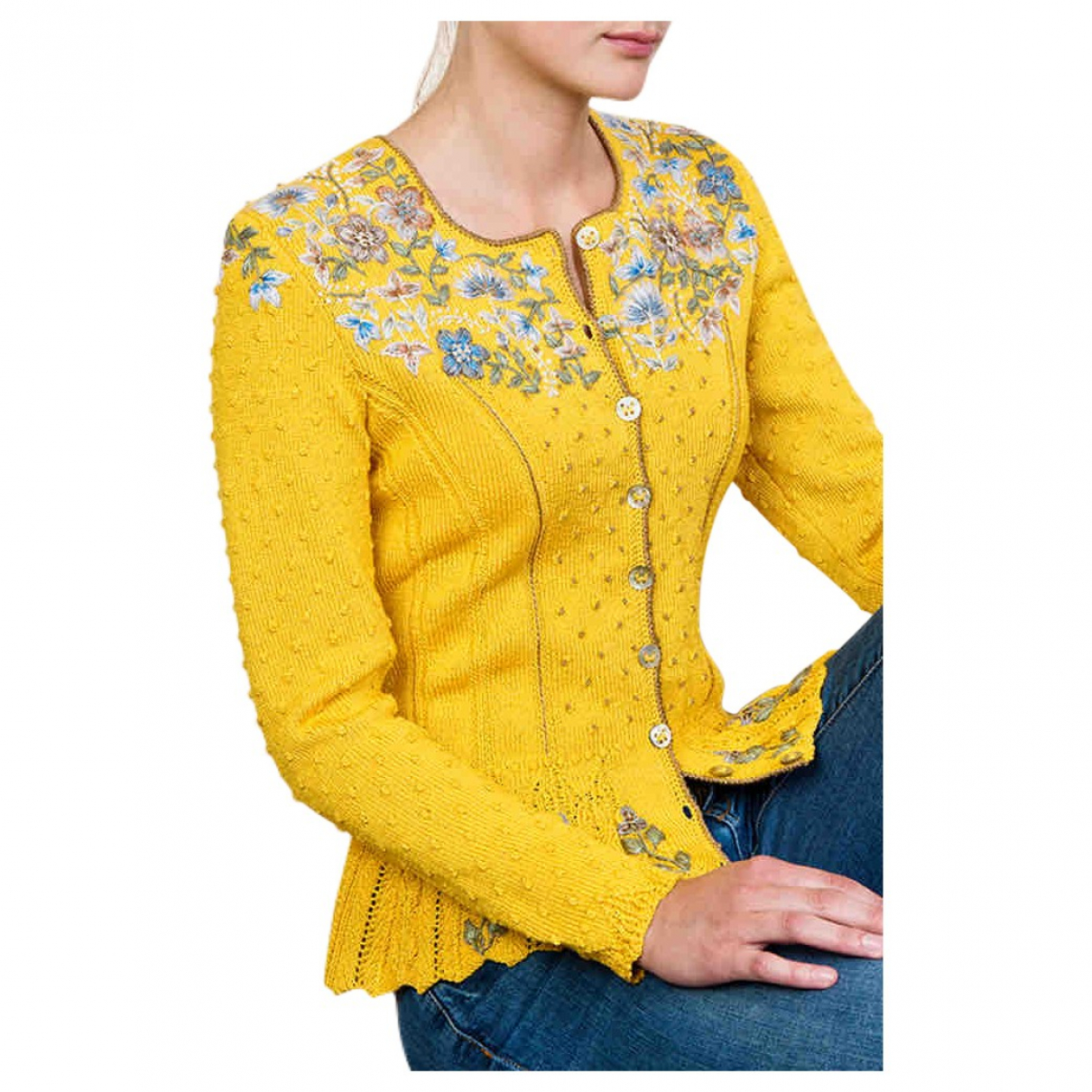 Non Signé / Unsigned \N Yellow Cotton Knitwear for Women S International