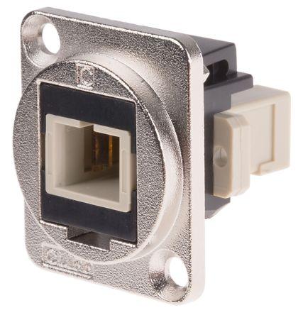 RS PRO , SC Multimode Simplex Fibre Optic Adapter, Black
