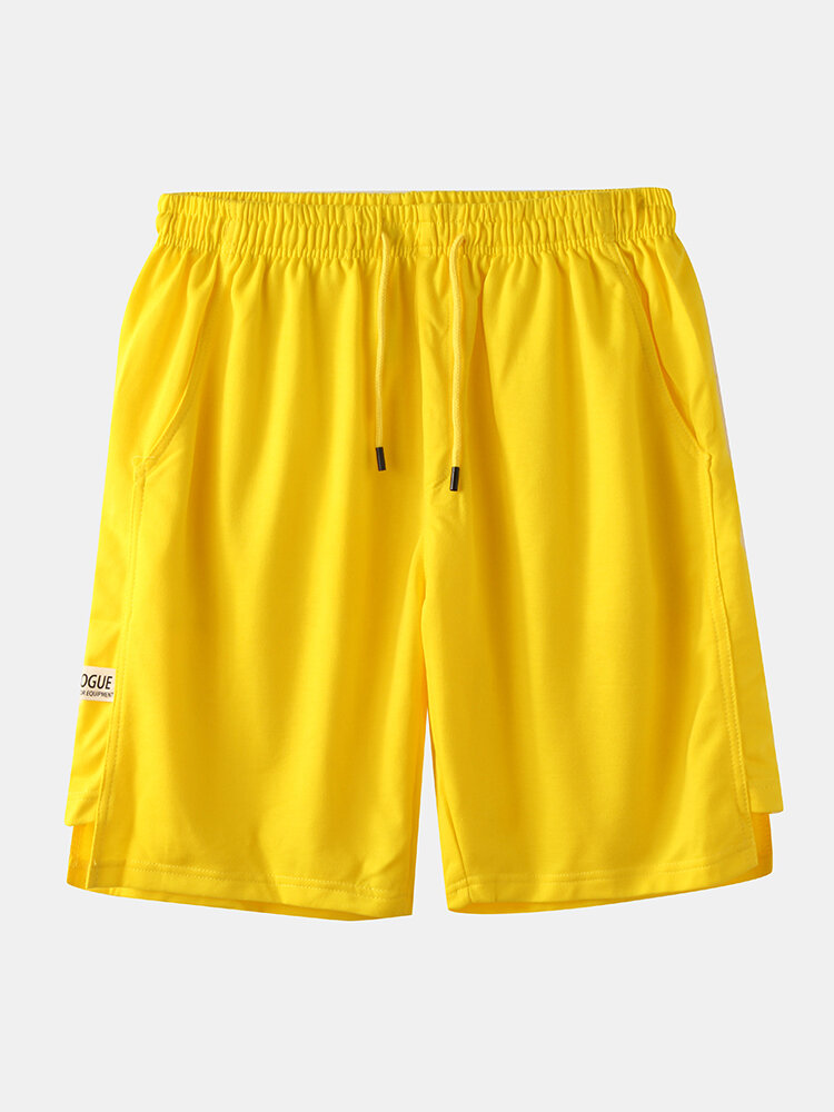Men Solid Color Casual Home Sports Shorts
