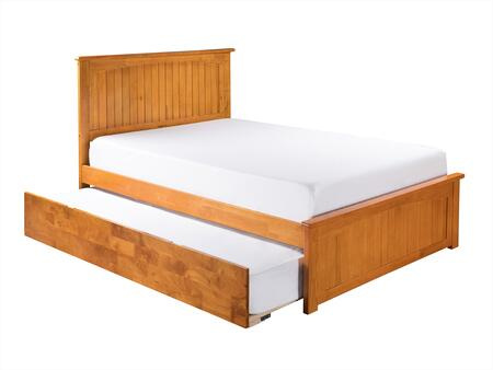 Nantucket Collection AR8236017 Full Size Platform Bed with Matching Footboard  Twin Size Urban Trundle  Hardwood Slat Kit and Eco-Friendly Solid