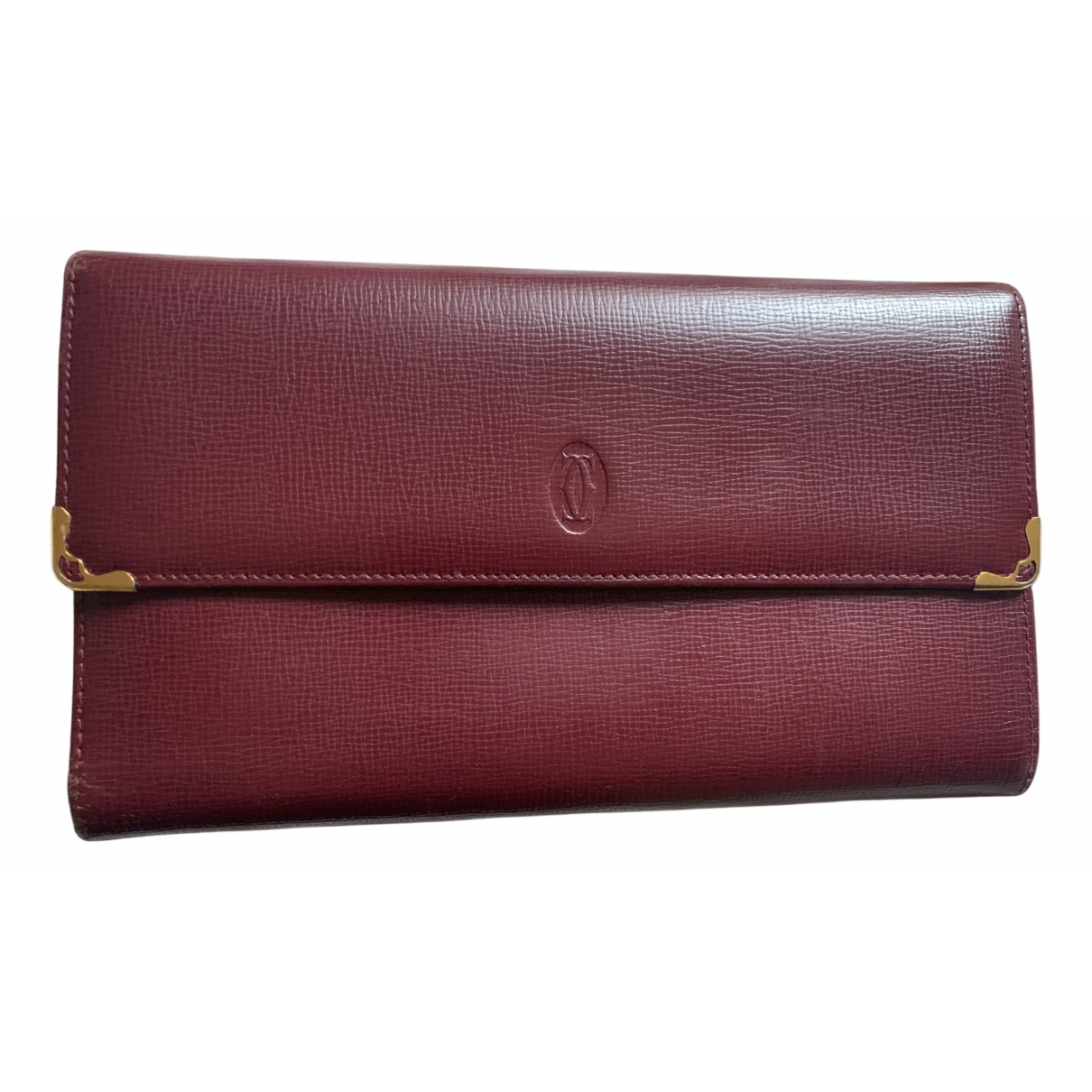 Cartier N Burgundy Leather wallet for Women N