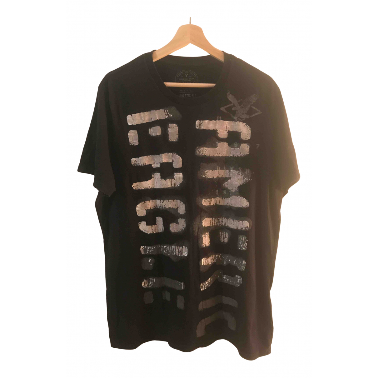 American Outfitters N Black Cotton T-shirts for Men L International