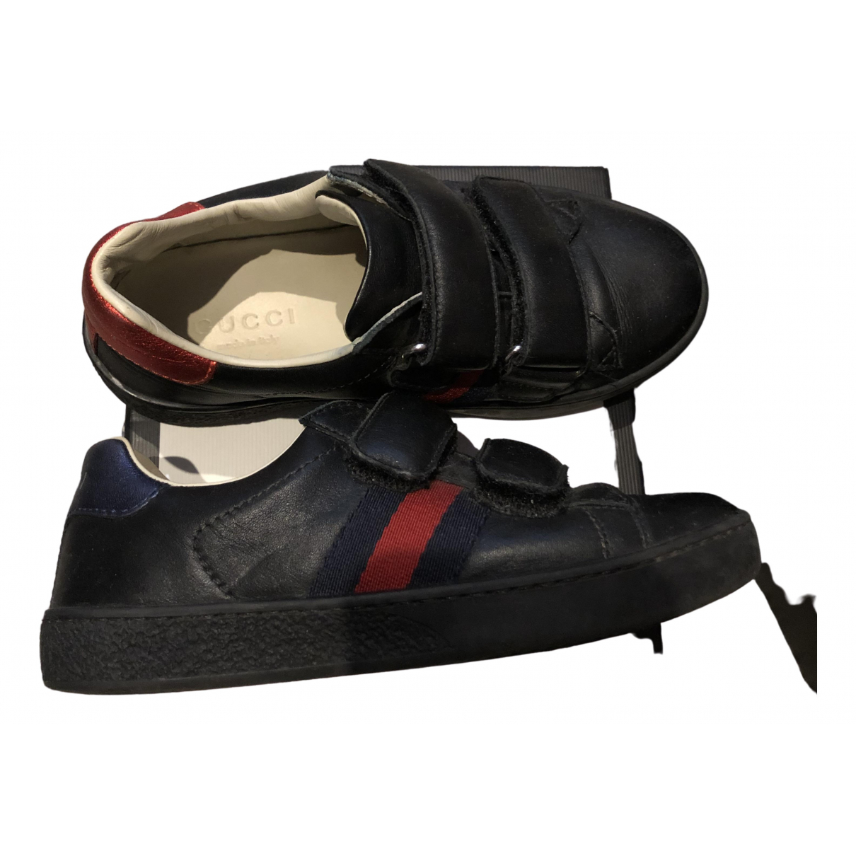 Gucci \N Navy Leather Trainers for Kids 28 FR
