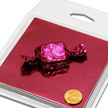 Fuchsia Candy Foil Wrappers Colored - 4 X 4 - Quantity: 125 - Candy Packaging by Paper Mart