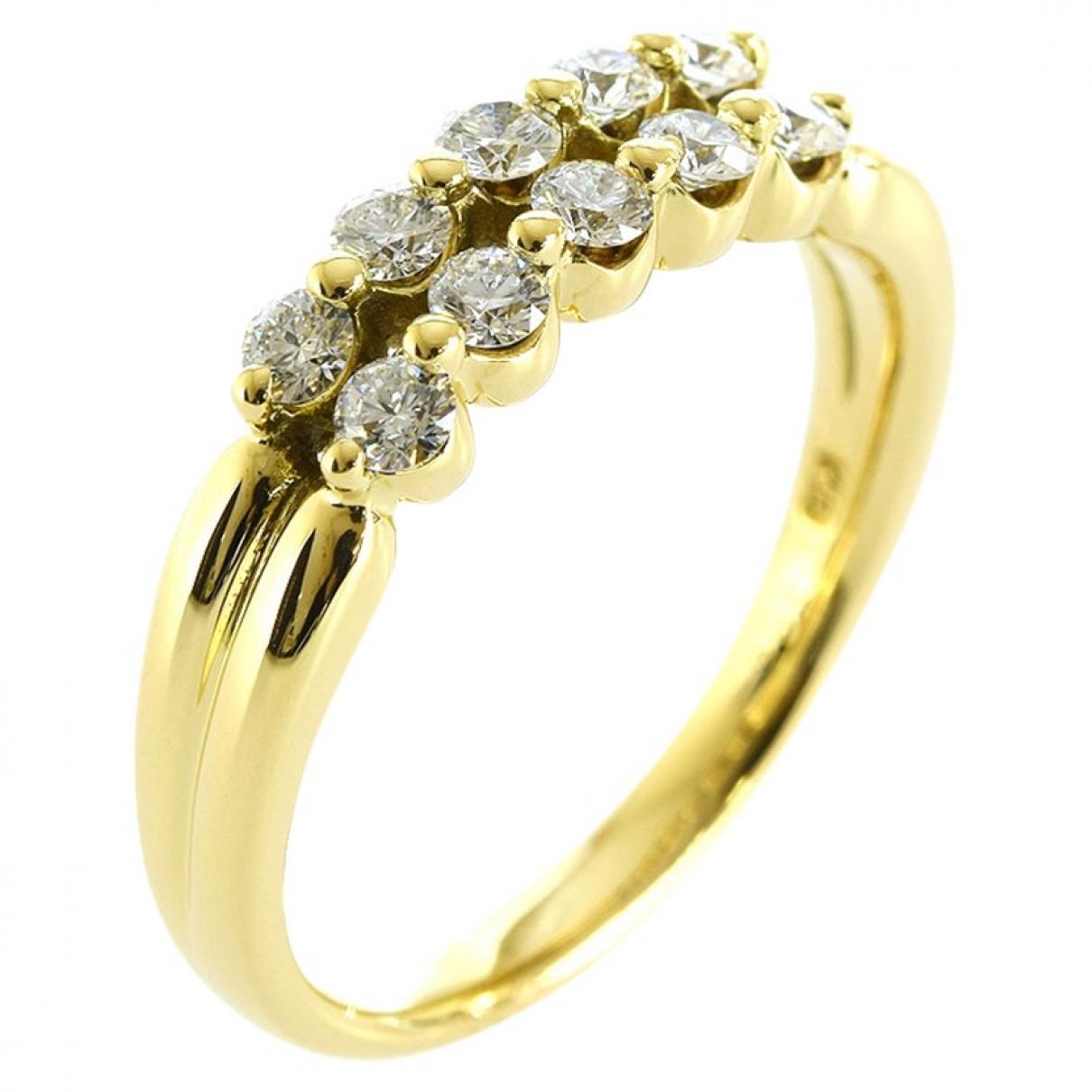 Non Signe / Unsigned \N Ring in  Gelb Vergoldet