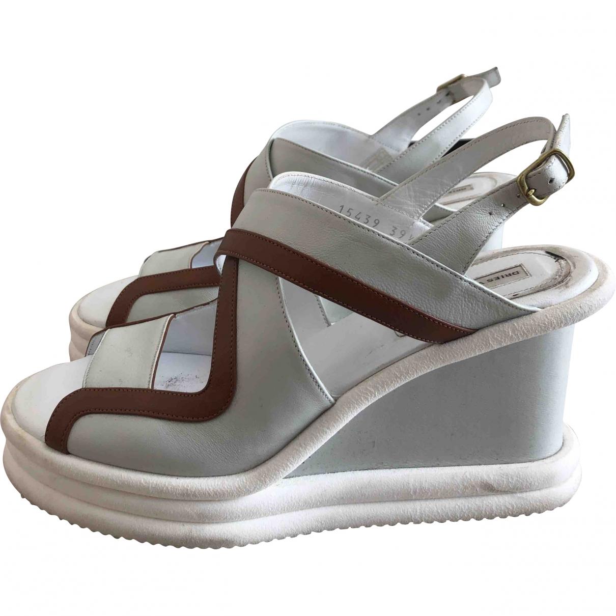 Dries Van Noten \N White Leather Heels for Women 39.5 EU