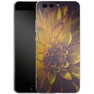 Huawei P10 Silikon Handyhuelle - Yellow Dahlia von Joy StClaire