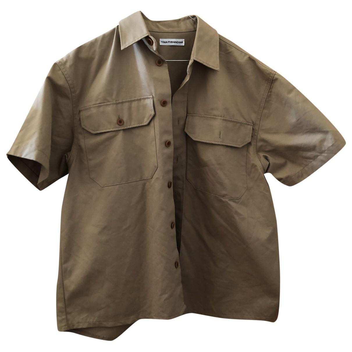 Gosha Rubchinskiy \N Hemden in  Beige Baumwolle