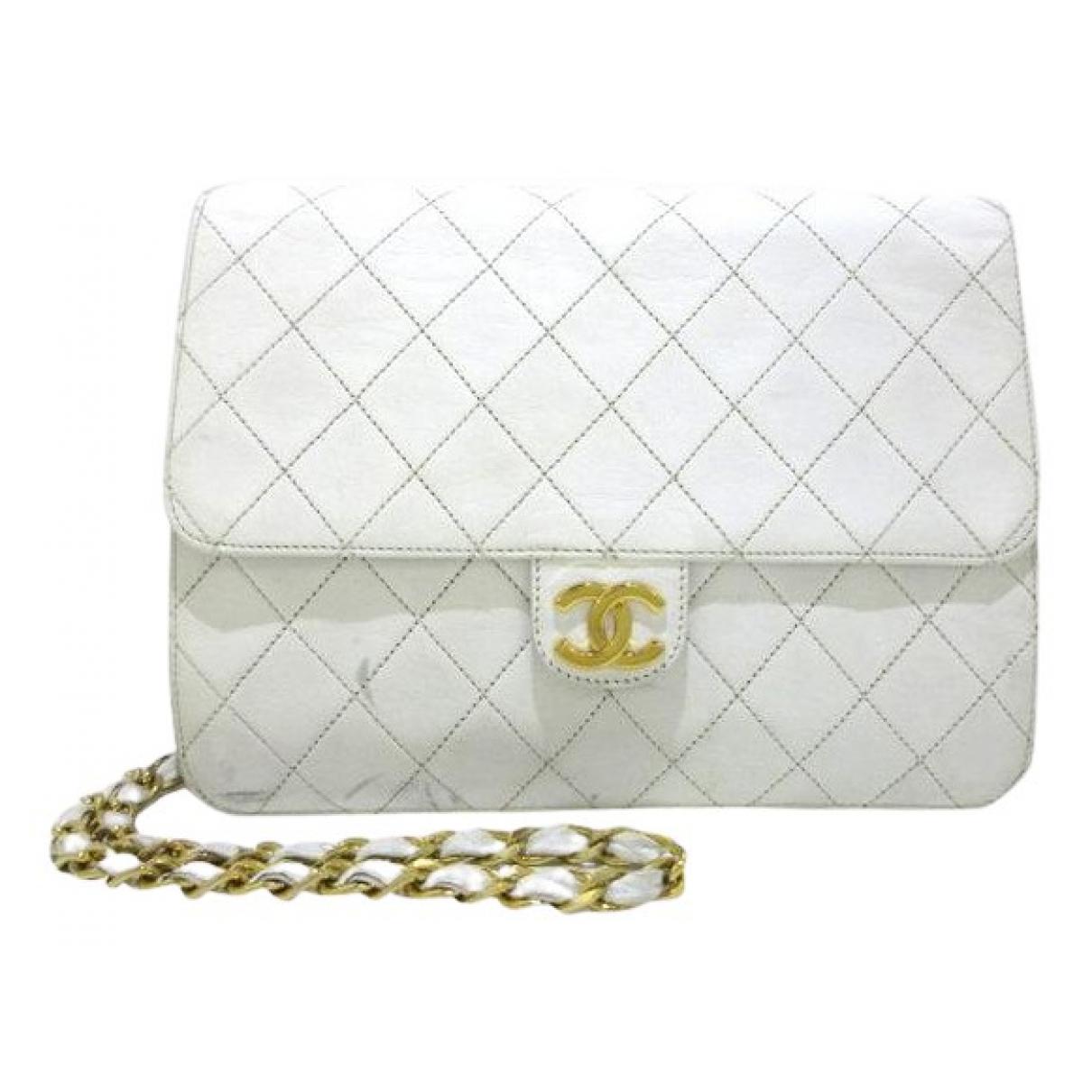 Chanel N White Leather handbag for Women N