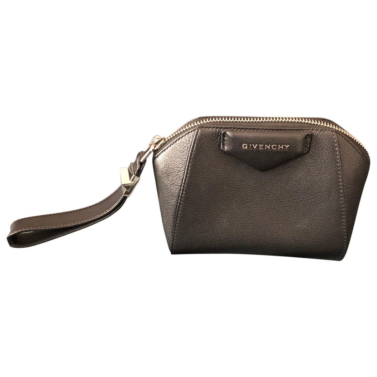 Givenchy - Pochette   pour femme en cuir - metallise