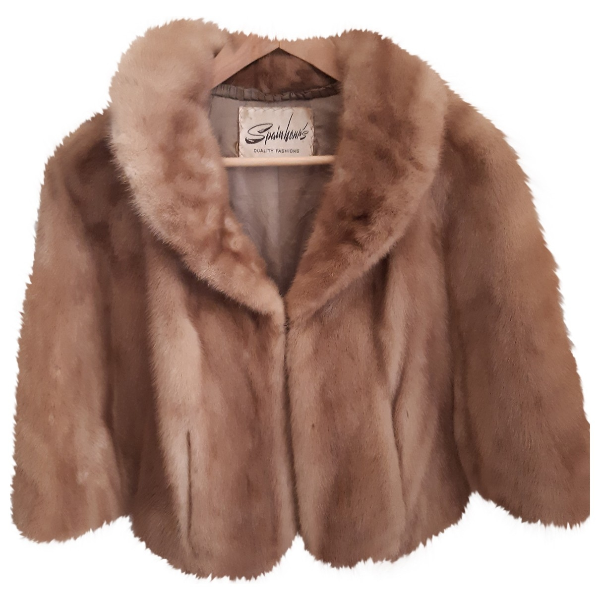 Non Signé / Unsigned \N Camel Mink coat for Women One Size FR