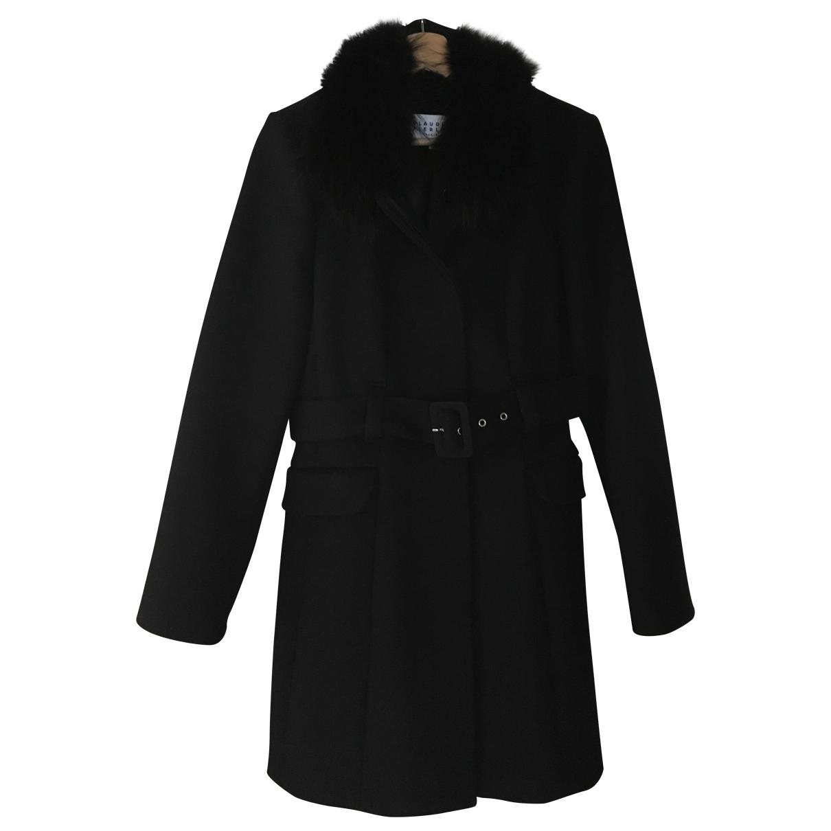 Claudie Pierlot \N Navy Wool coat for Women 40 FR