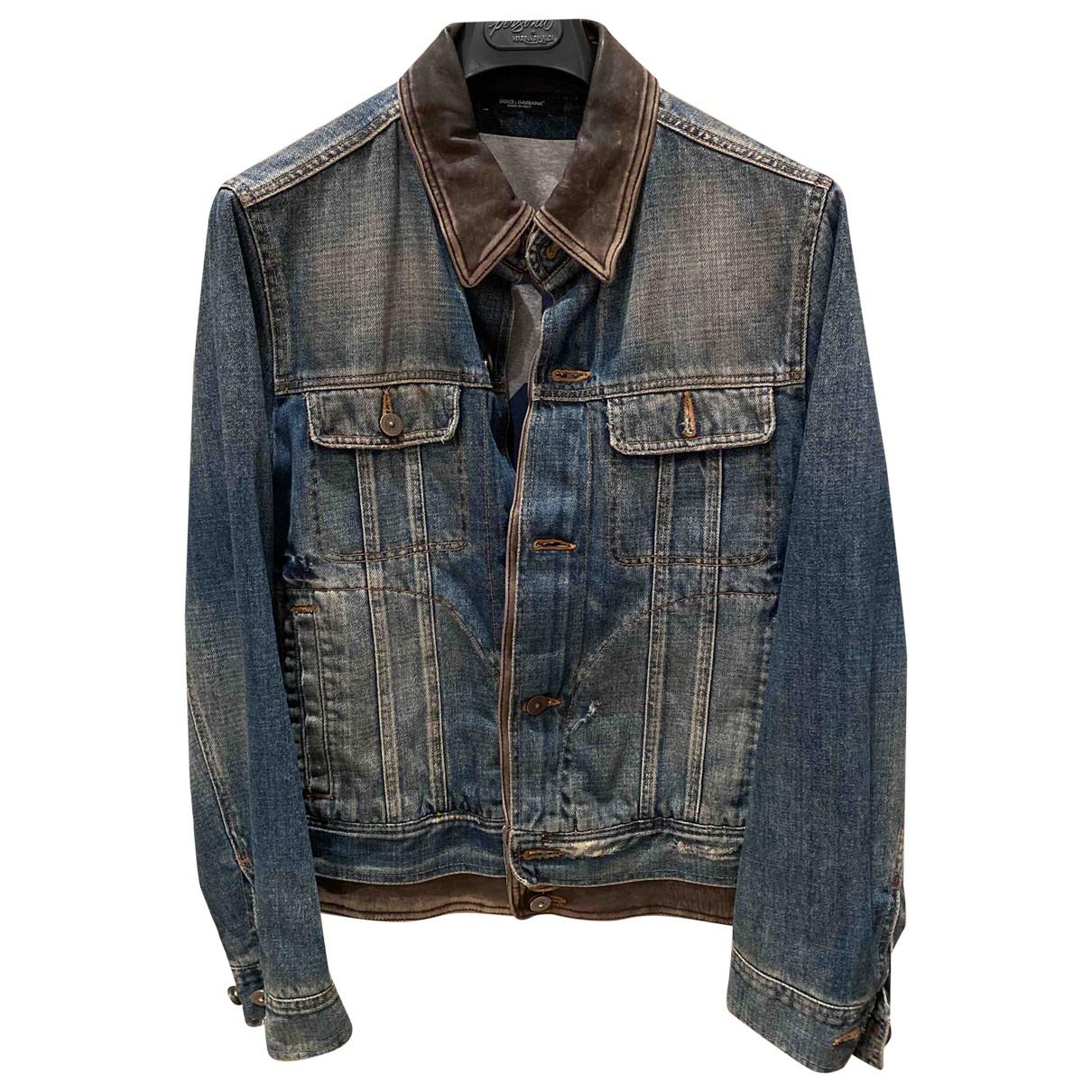 Dolce & Gabbana - Vestes.Blousons   pour homme en coton - bleu
