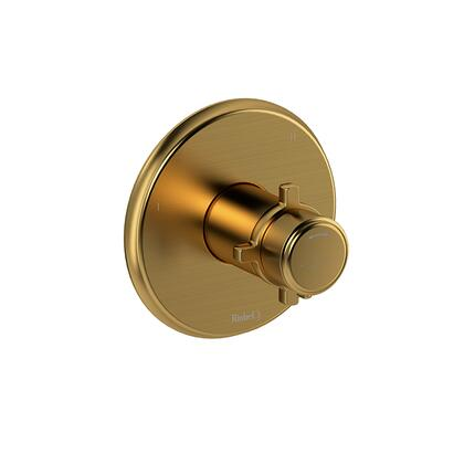 Momenti MMRD45+BG 3-Way Thermostatic/Pressure Balance Coaxial Complete Valve with Cross Handles  in Brushed