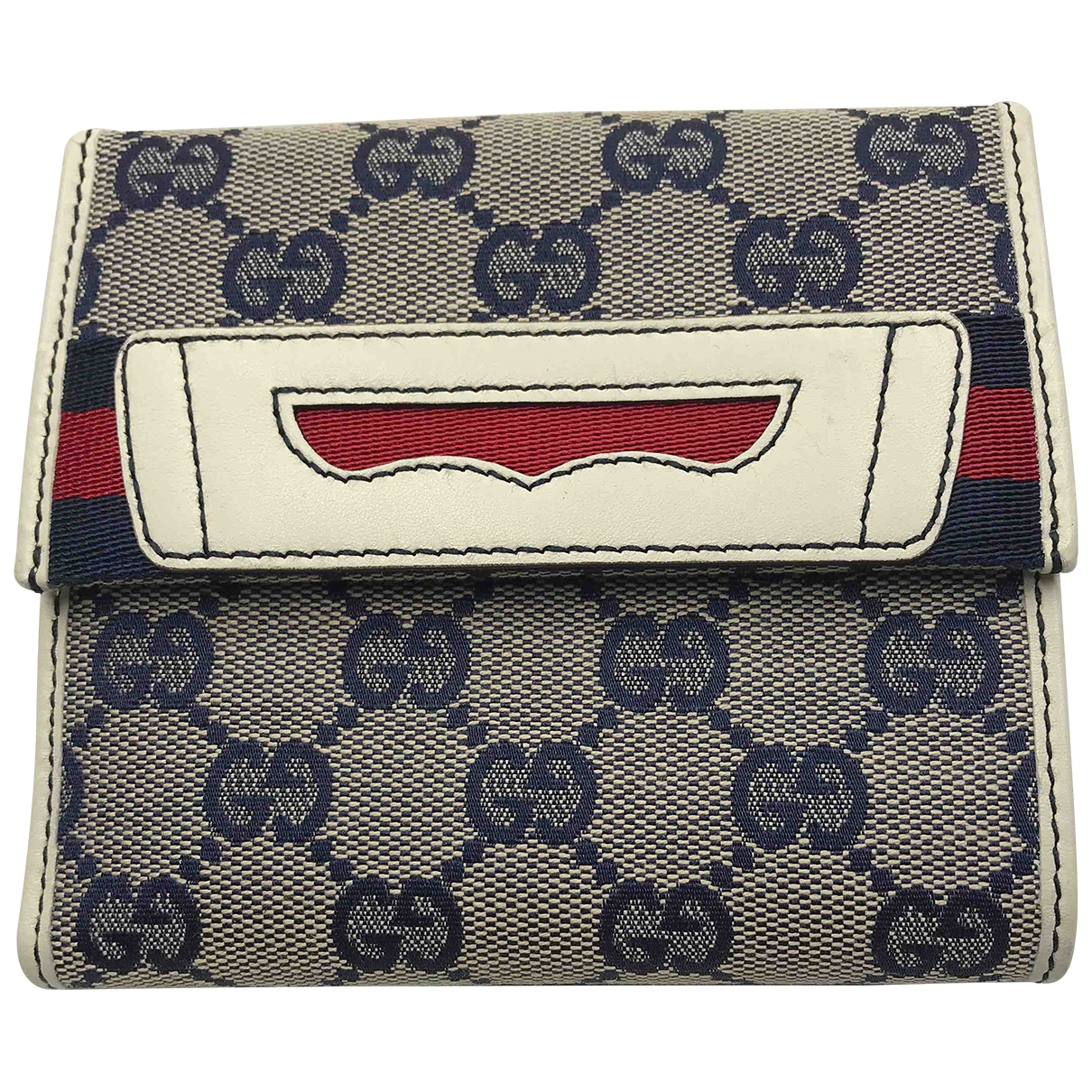Gucci Ophidia Portemonnaie in  Blau Leinen