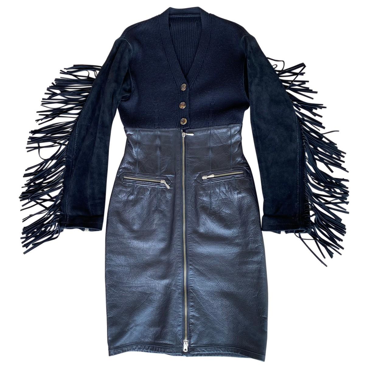 Vestido de Cuero Jean Paul Gaultier