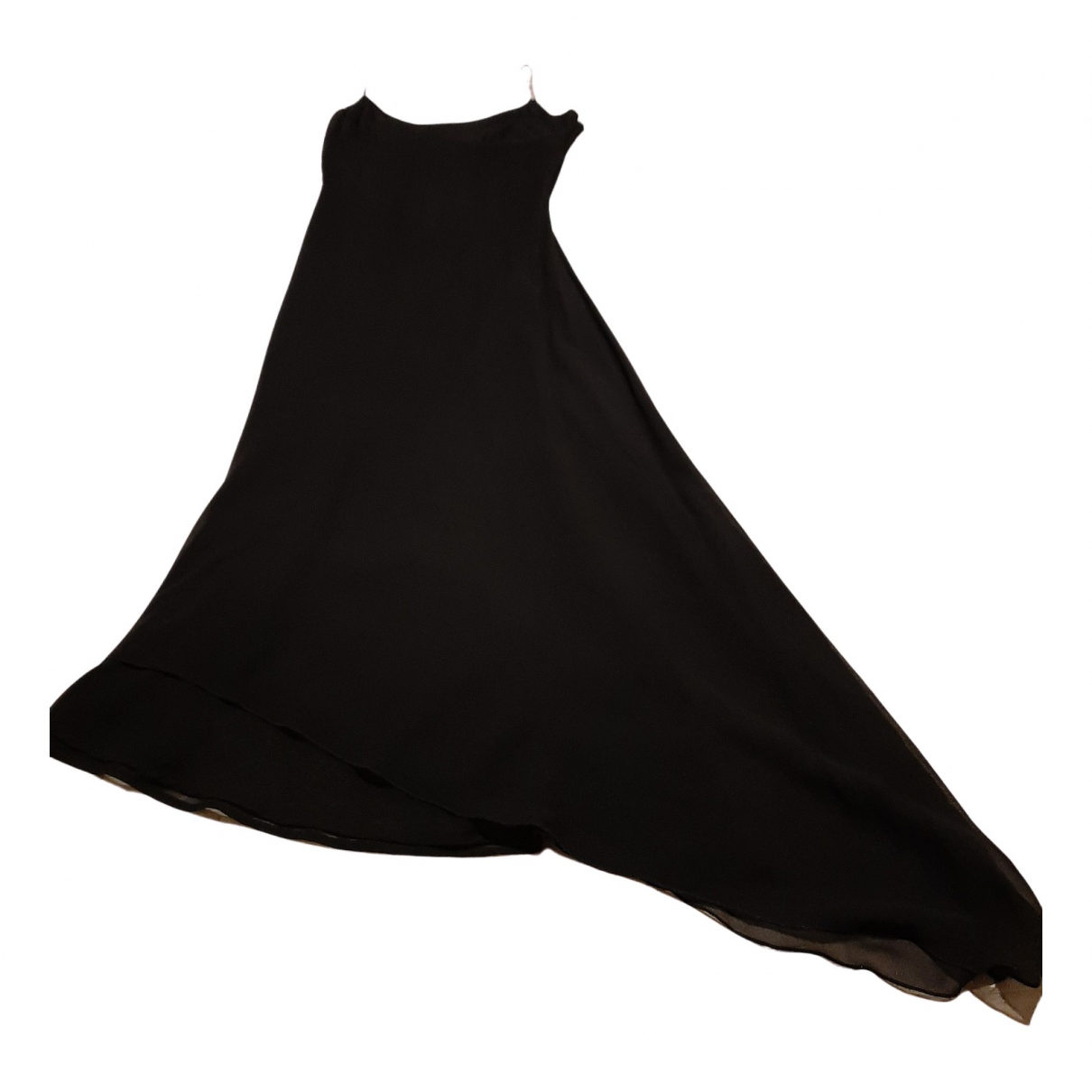 Non Signé / Unsigned N Black Silk dress for Women 42 IT
