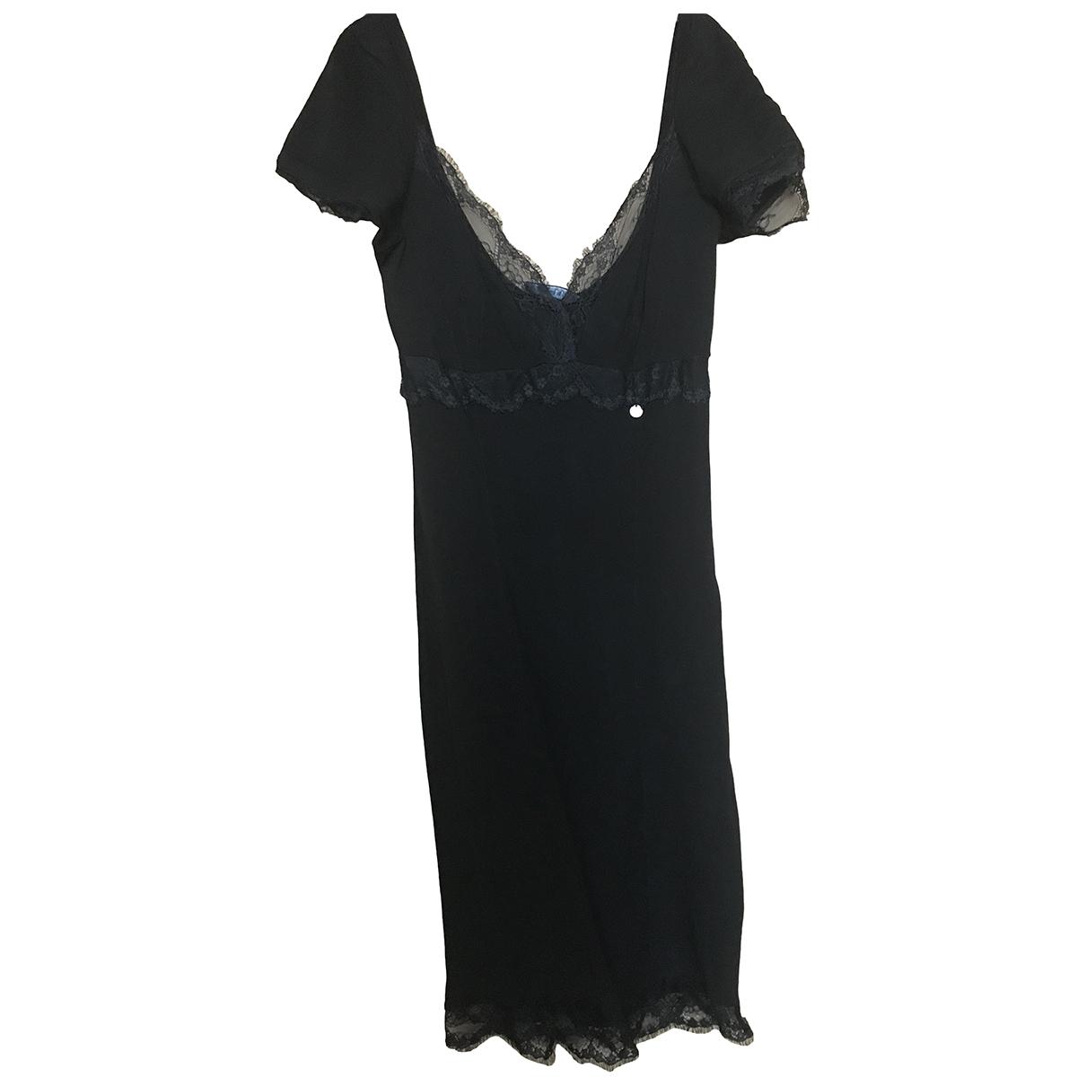 Liu.jo \N Kleid in  Schwarz Baumwolle