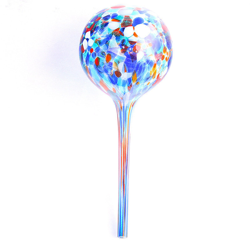 Watering Globe Set Colorful Hand-Blown Glass Plant Watering System Garden Home Tools