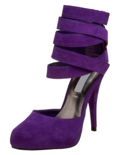 Milanoo Suede High Heels Purple Almond Stiletto Heel Ankle Strap Pumps For Women
