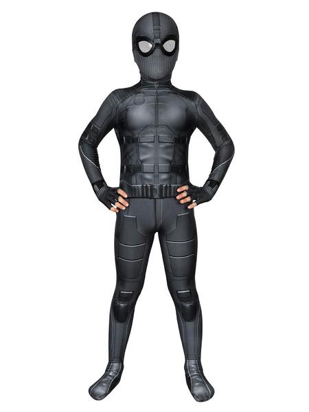 Milanoo Marvel Comics Marvel Spider Man Far From Home Night Monkey Suit Zentai Cosplay Costume Halloween