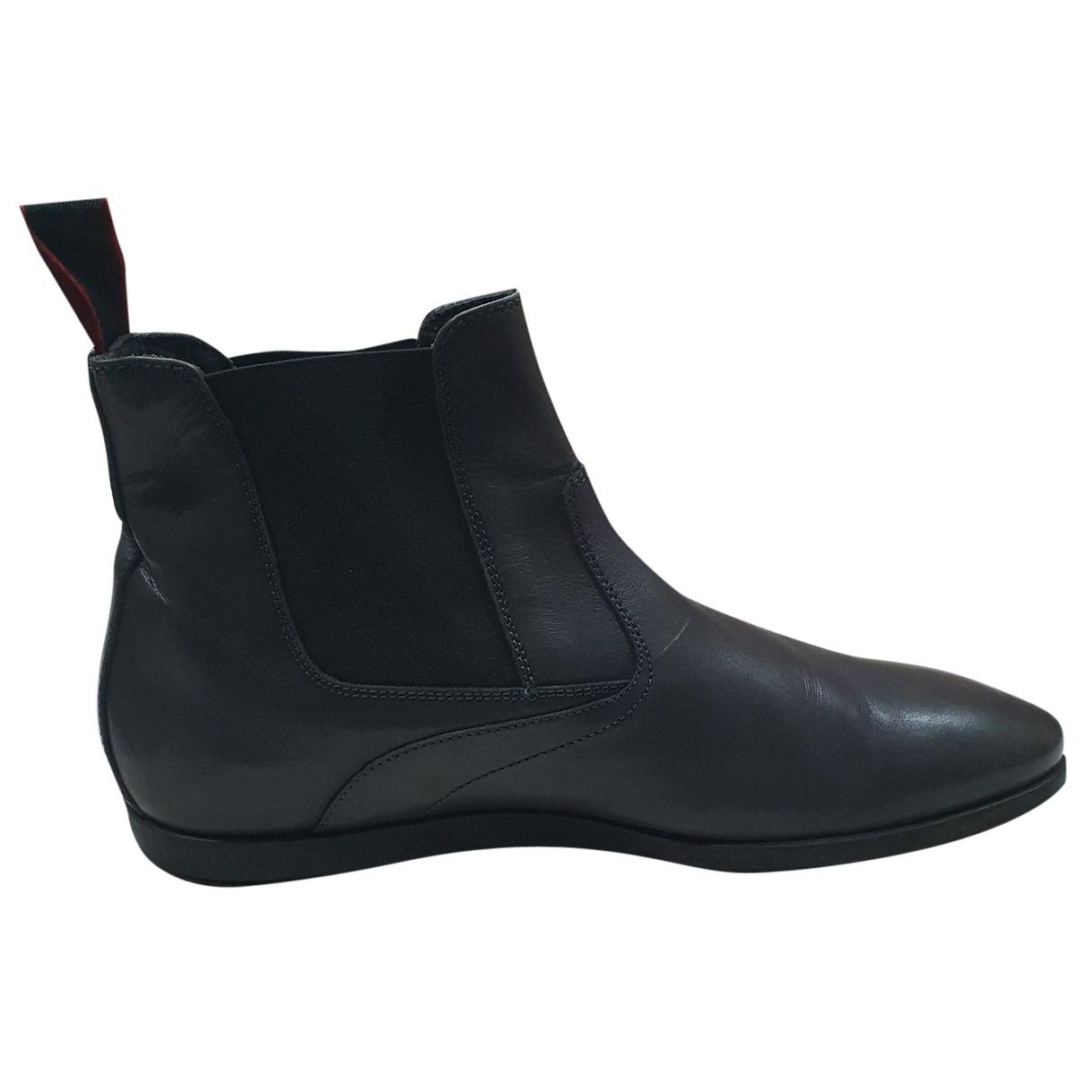 Hugo Boss \N Stiefel in  Grau Leder