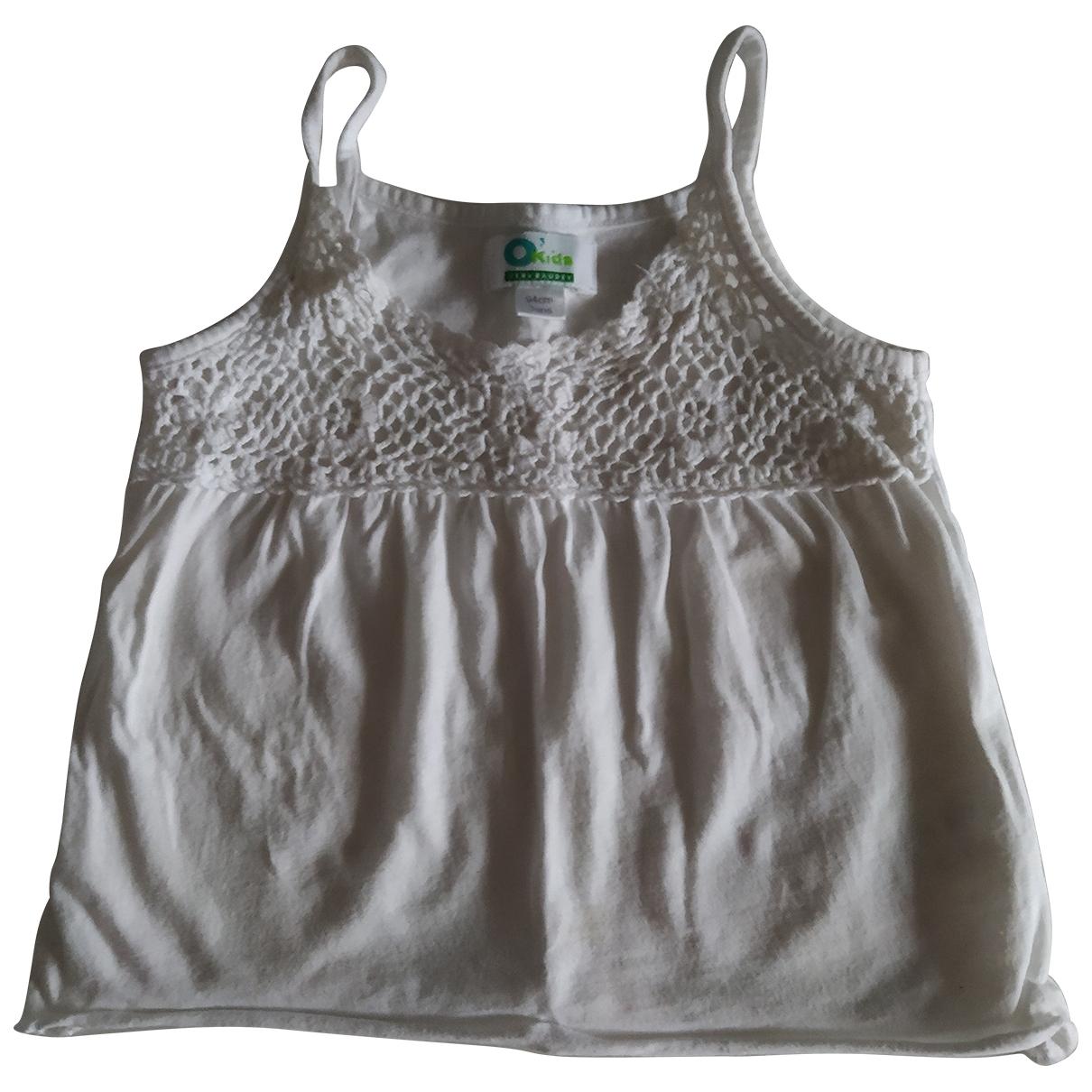 - Top   pour enfant en coton - blanc