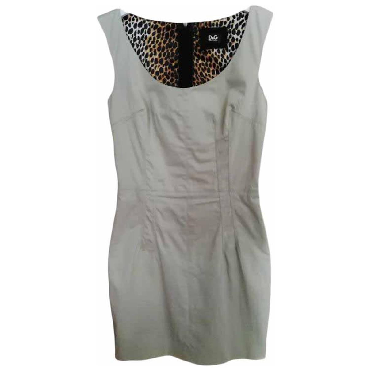 Dolce & Gabbana \N Beige Cotton dress for Women 38 IT