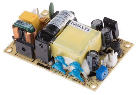 Mean Well , 30W Embedded Switch Mode Power Supply SMPS, 48V dc, Open Frame, Medical Approved