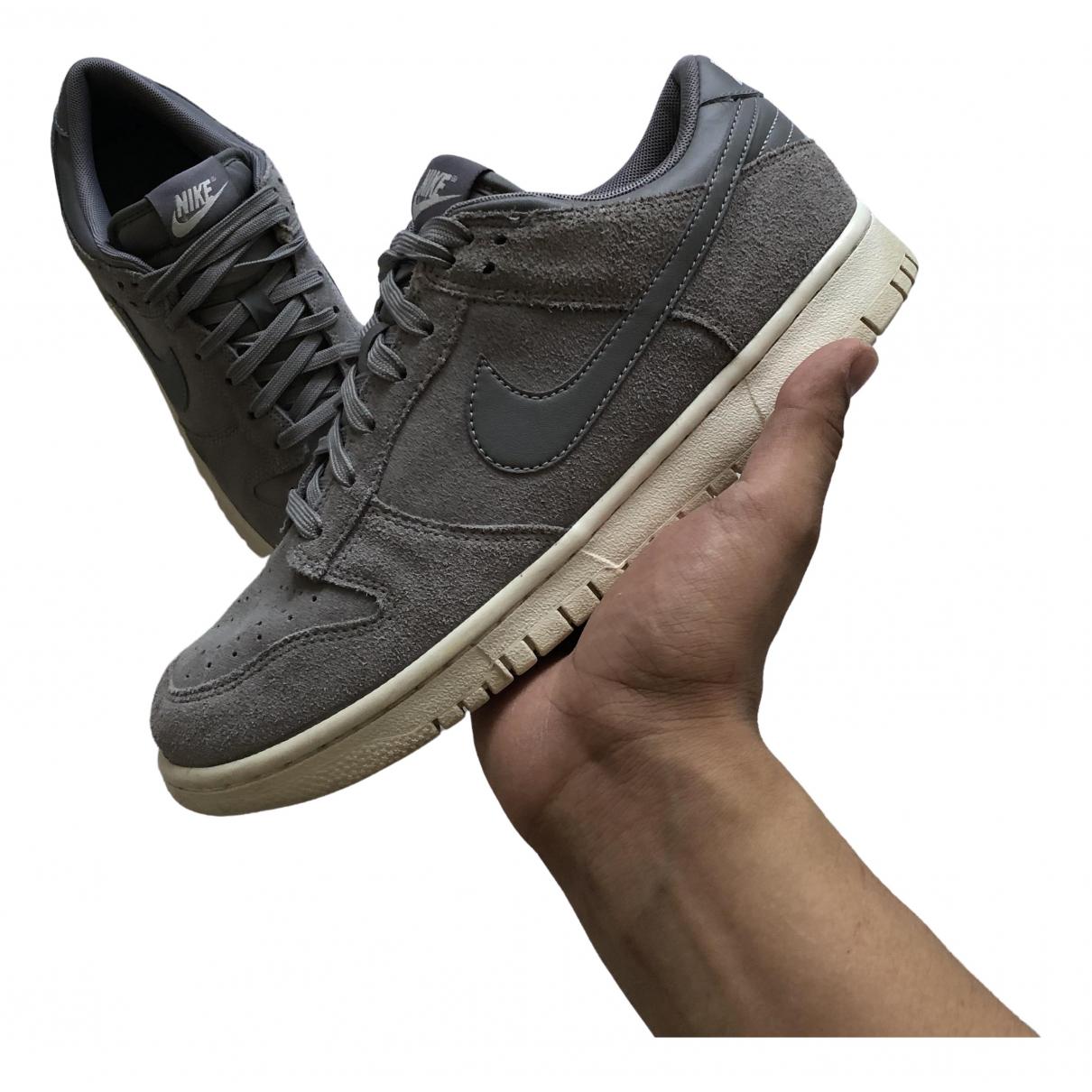 Nike \N Grey Suede Trainers for Men 41 EU