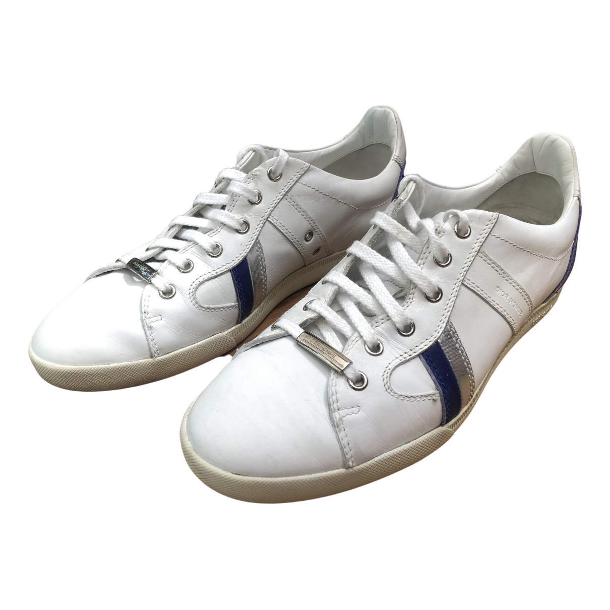 Dior Homme \N White Leather Trainers for Men 41 IT