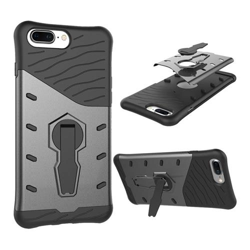 Black OnePlus 5 Case Armour Series Protective Phone Case 360 Degree Rotating Bracket Stand Cover