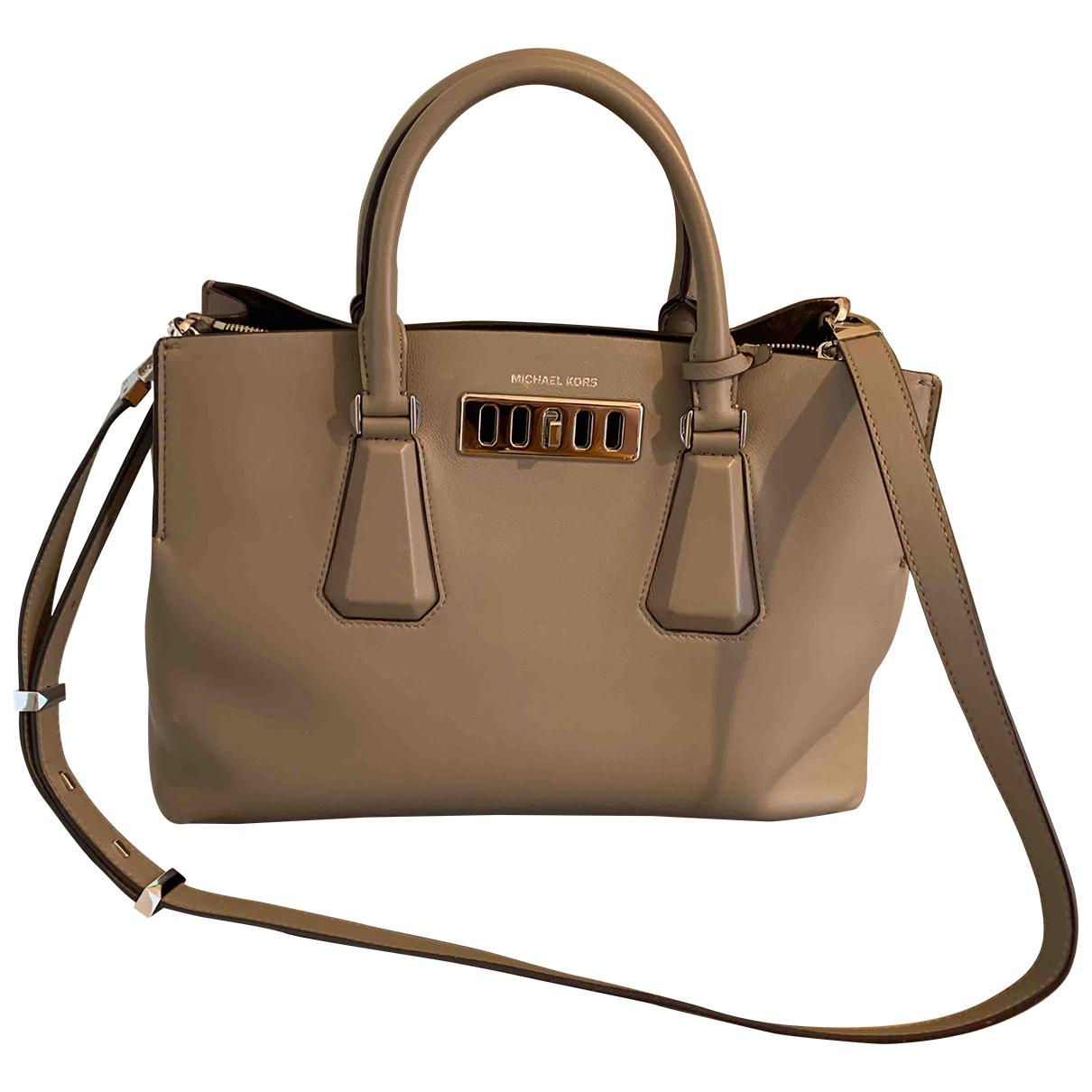 Michael Kors \N Handtasche in  Beige Leder