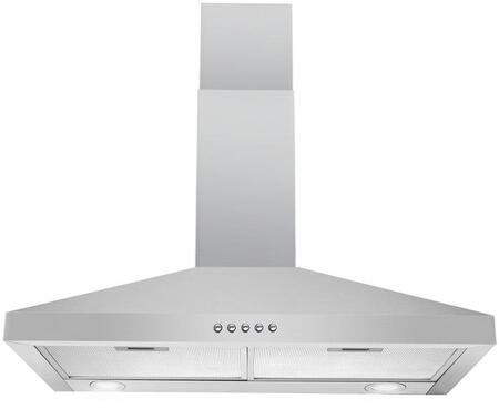RH0472 30 Convertible Wall Mount Range Hood with 217 CFM  LED Lighting  Mesh Filters and Push Button Controls in Stainless