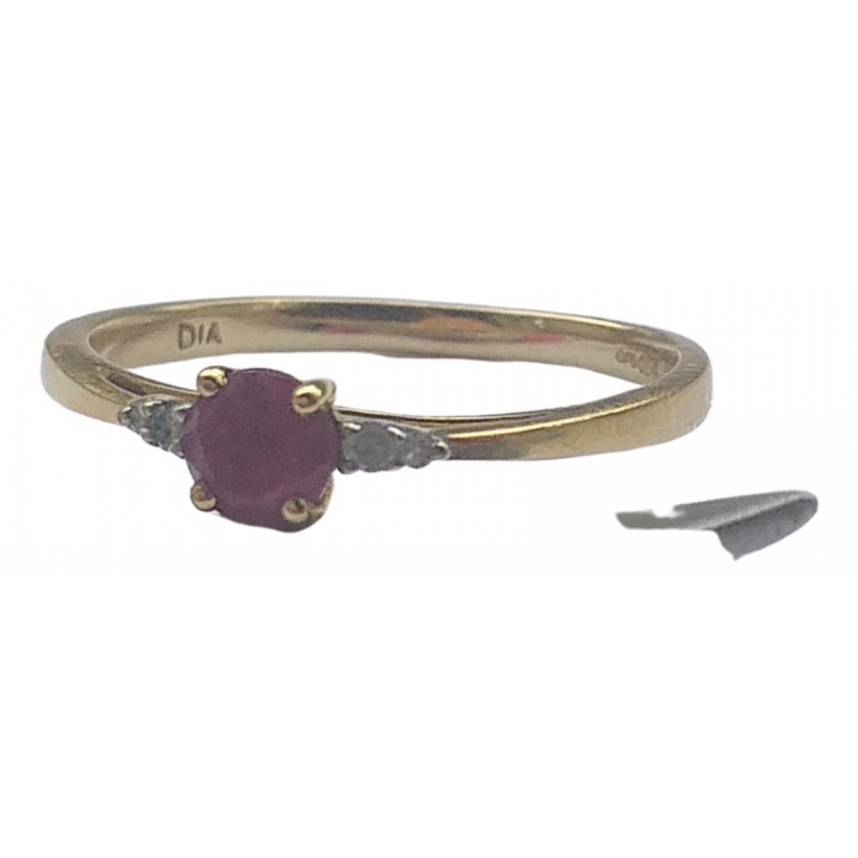 Non Signé / Unsigned Rubis Yellow Yellow gold ring for Women L UK