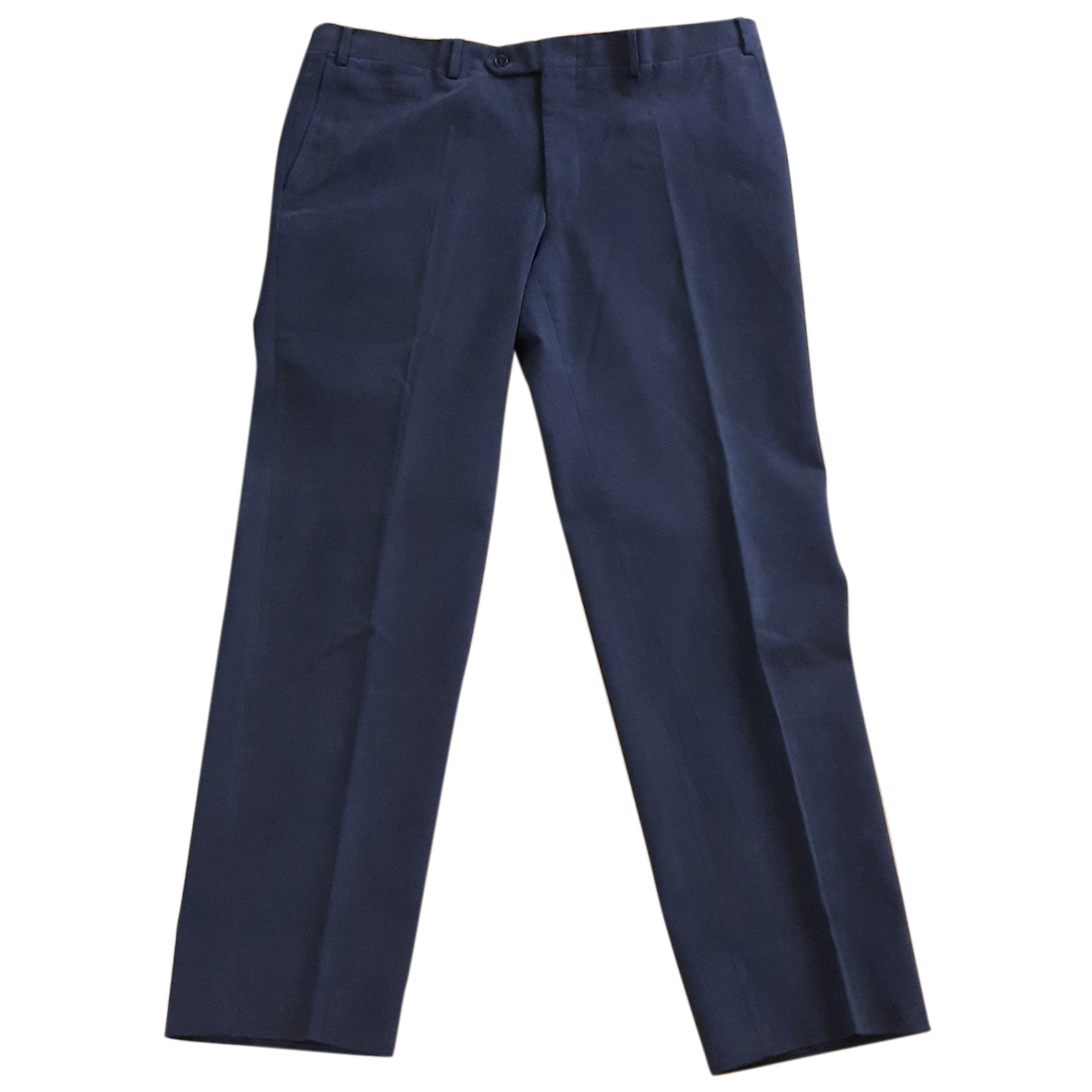 Canali N Grey Cotton Trousers for Men 52 IT