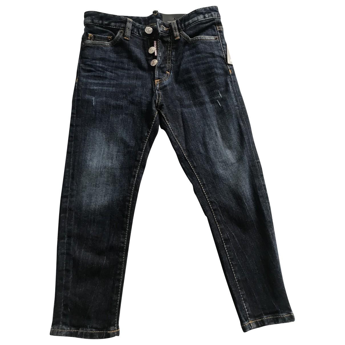 Dsquared2 - Pantalon   pour enfant en coton - bleu