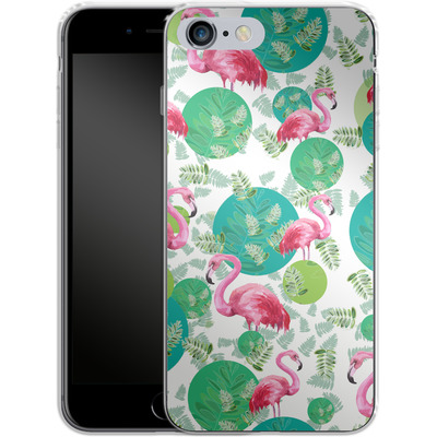 Apple iPhone 6s Plus Silikon Handyhuelle - Flamingo Land von Mukta Lata Barua