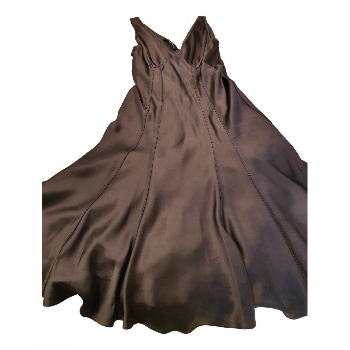 Amanda Wakeley \N Kleid in  Grau Seide