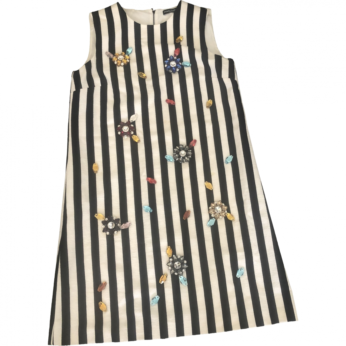 Dolce & Gabbana - Robe   pour femme en coton - ecru