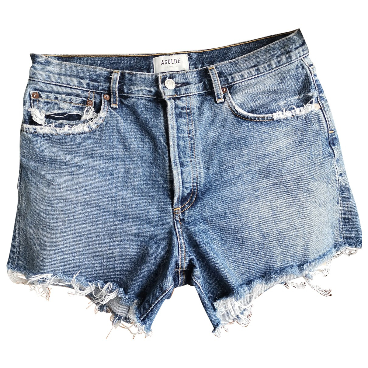 Agolde \N Blue Cotton Shorts for Women 8 US