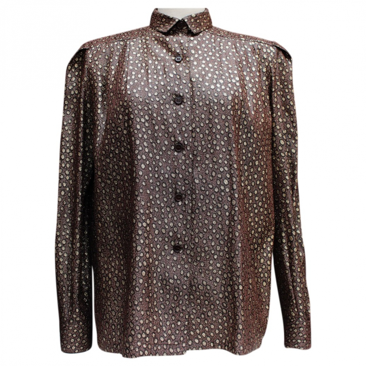 Dior \N Brown Silk  top for Women 38 FR