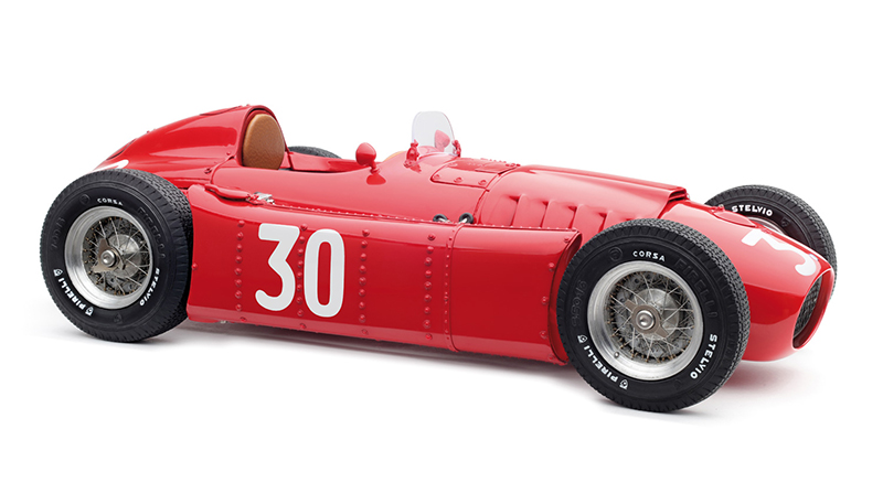 1954-1955 Lancia D50 1955 Monaco GP 30 Eugenio Castellotti Limited Edition to 1500 pieces Worldwide 1/18 Diecast Model Car by CMC
