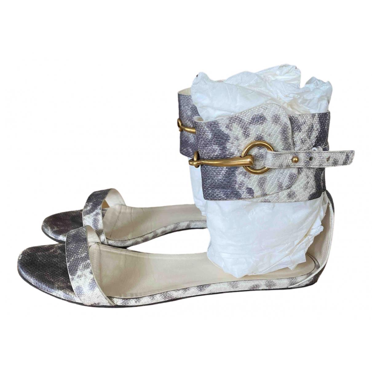 Gucci - Sandales   pour femme en python - gris