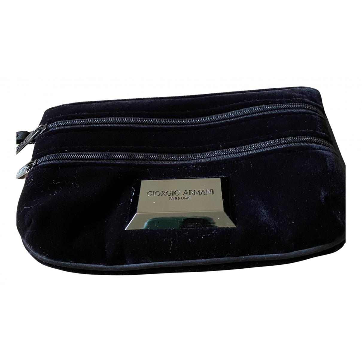 Giorgio Armani N Black Velvet Purses, wallet & cases for Women N