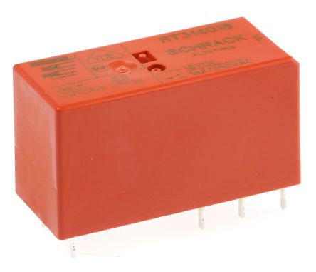 TE Connectivity , 18V dc Coil Non-Latching Relay SPDT, 16A Switching Current PCB Mount Single Pole