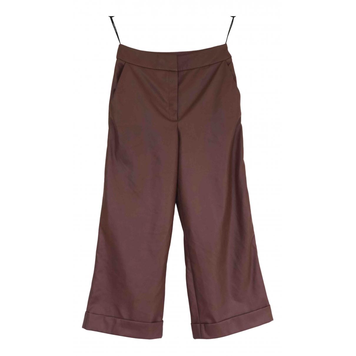 Karen Millen \N Brown Trousers for Women 8 UK