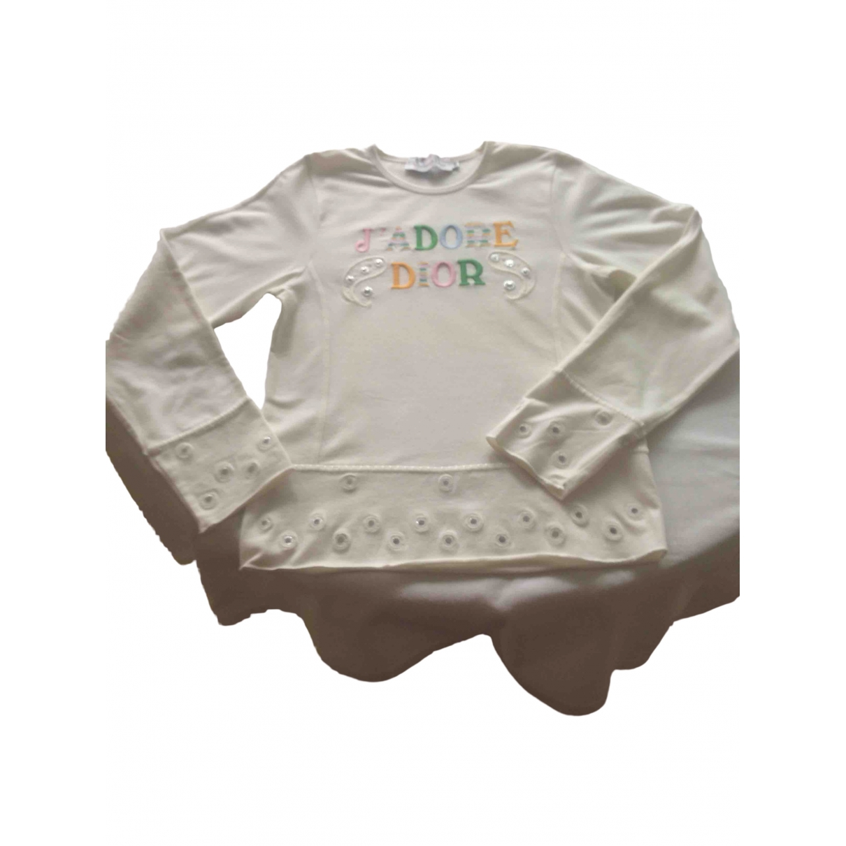 Dior \N White Cotton  top for Kids 10 years - until 56 inches UK