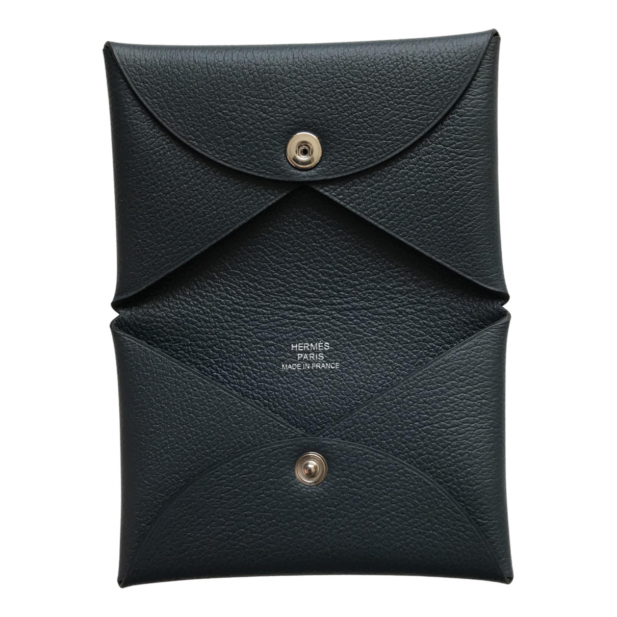 Hermes - Petite maroquinerie Calvi pour femme en cuir - bleu